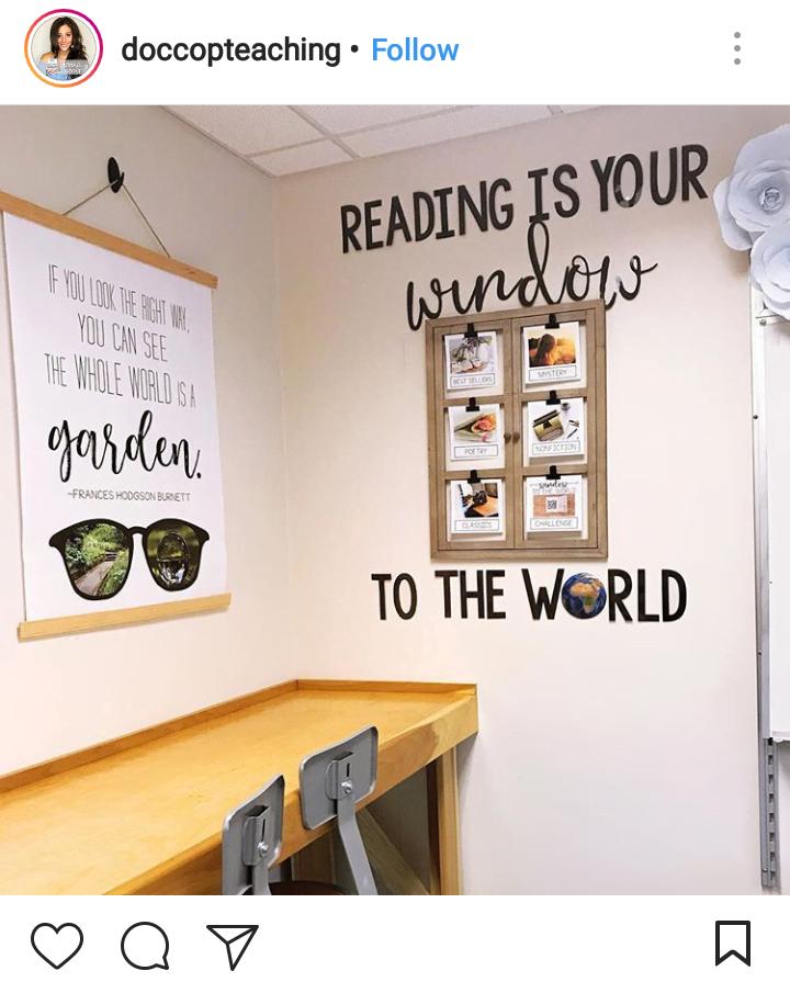 tł.: Czytanie to twoje okno na świat.