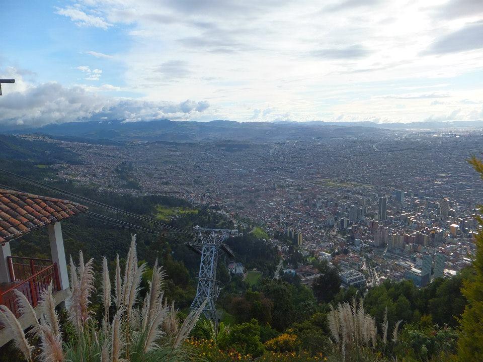 Bogota - widok z Monserrate